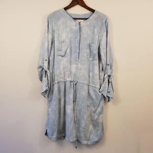 Lou & Grey shirt dress cinch waist size large